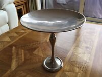Silver coloured cake/ fruit stand