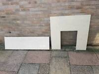 Fireplace Hearth & Back Panel