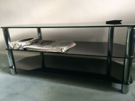 Three Shelf Tempered Glass Stand for TV up to 55 inches