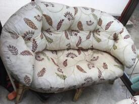 Two seater bamboo settee