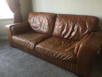 DFS 3 seater sofa & footstool with storage
