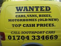 WE BUY ANY CAR SOUTHPORT LOCAL CASH CAR BUYER VALUE MY MOTOR WE BEAT THEM ALL CALL NOW 01695 372072