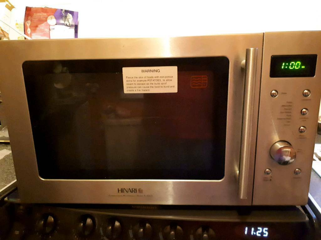 Hinari Ellipse Stainless Steel 900w Convection Microwave