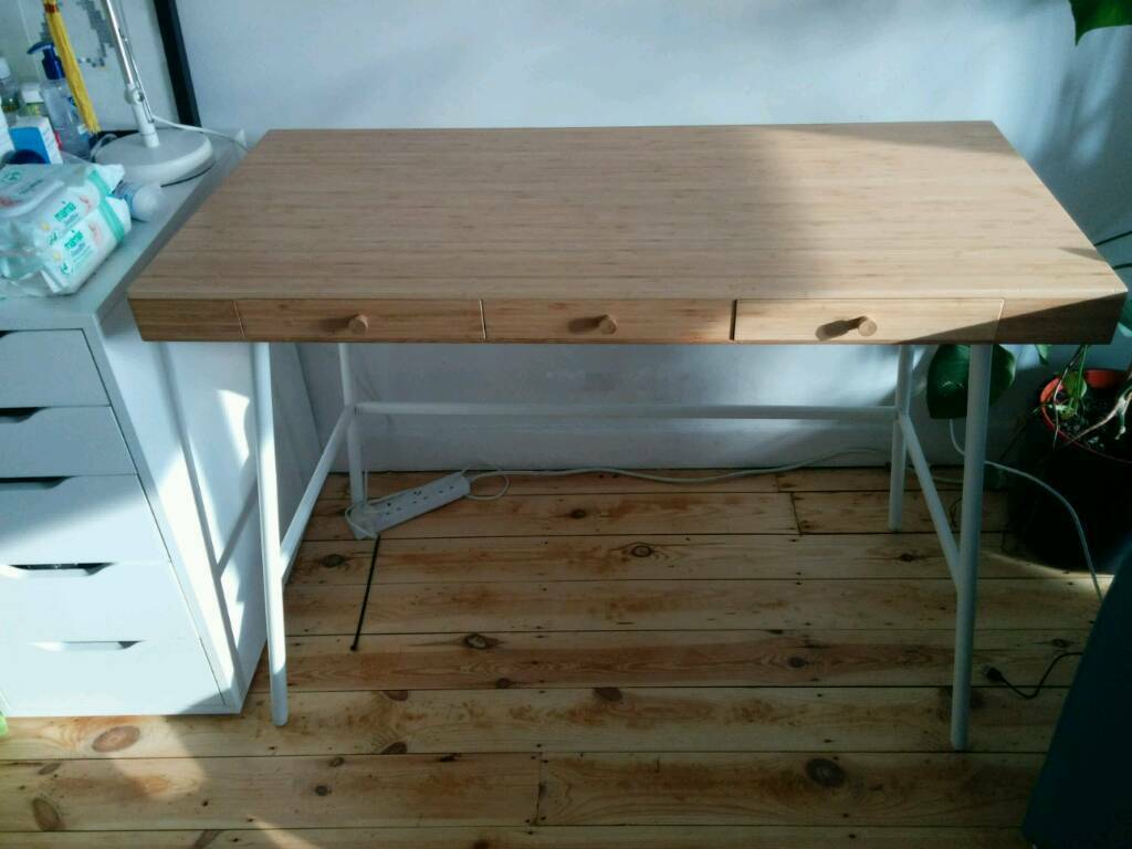 Ikea Lillasen Bamboo Desk In Bournemouth Dorset Gumtree