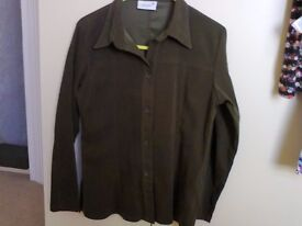 Dark green suede feel blouse size 10