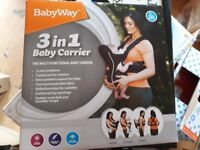 New Babyway 3 in 1 Baby Carrier