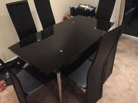 Glass 6 seater dining set