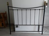 Metal black and gold double bed head