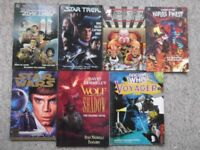 7 graphic novels - Star Trek, Star Wars, Doctor Who, DC Comics Legends, Wolf in Shadow - save £17