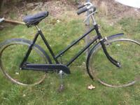 "Very Rare Ladies ""Haddon Super"" Cycle For Restoration"