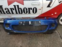 Mini Cooper S Front Bumper R57 2008-10 Blue With Grills Breaking Full Car BMW 1 3 5 6 7