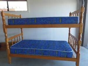 Bunk Bed With 2xMattresses-Solid Pine-Converts To 2 x Single Beds Coombs Molonglo Valley Preview