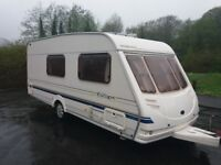 Sterling Europa 520 4 berth clean family caravan with awning ( must sell by this weekend )