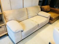 SOFOLOGY 3 seater sofa and Snuggle armchair. 2 years old. Excellent condition