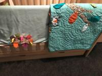 Cot bed and acceceries
