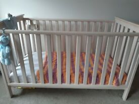 Matching mama and papa changing station and cot bed