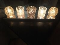 Table lamp with 5 crystal lights