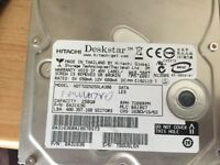 2x 250gb hard drives internal SATA - choice any 2