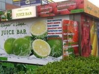 JUICE AND COFFEE BAR FOR SALE with A3