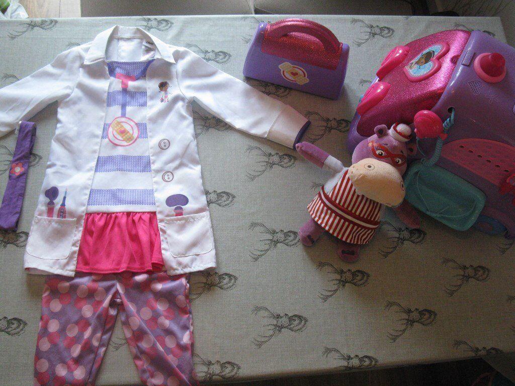 Doc Mcstuffins Mobile Talking Clinic Costume Doctor Bag Set Hallie