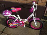 "Apollo Pixie 14""girls bike in excellent condition"