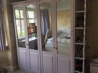 Bedroom Double wardrobe, Drawers, Dressing Table, Bedside drawers.