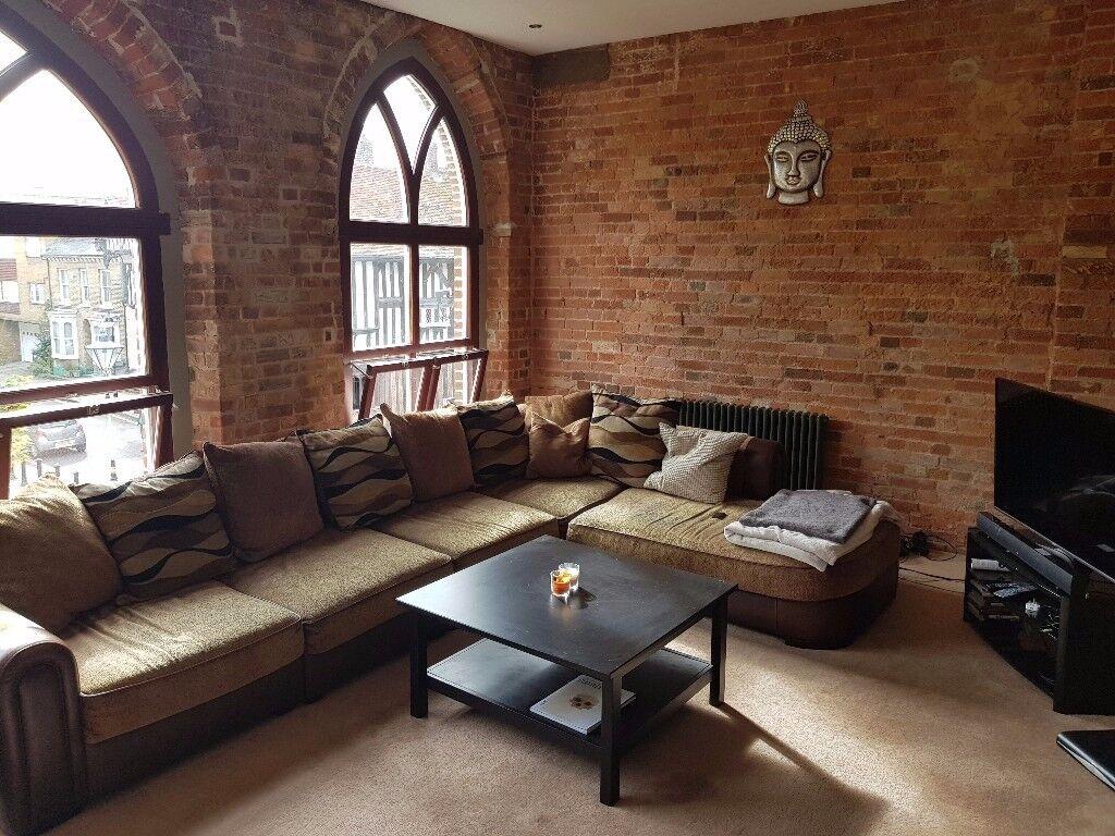 Master bedroom within stunning loft-esk flat