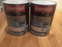 2x 5L Farrow & Ball Cornforth White by Johnstones