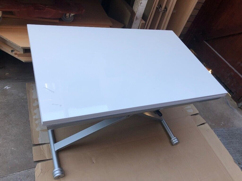 Dwell Rise Extending Coffee Table White With Fault In Leicester Leicestershire Gumtree