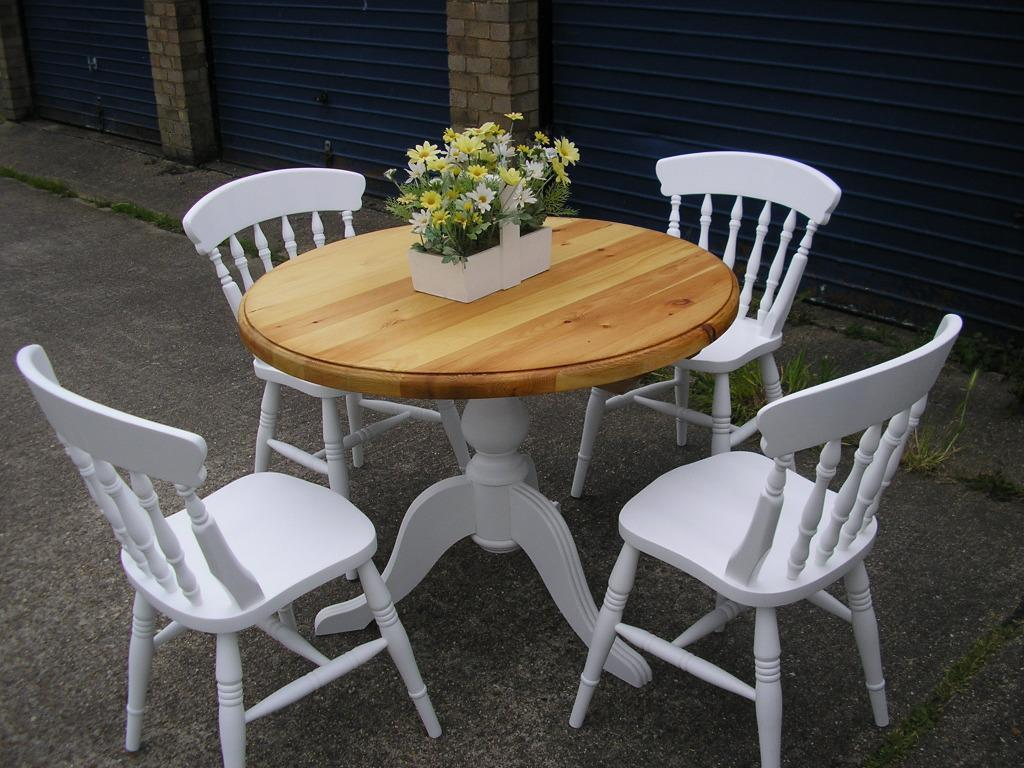 Shabby Chic Bench ~ Shabby chic table and chairs in wickford essex gumtree
