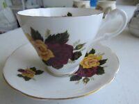 royal Ascot Bone China cup and saucer