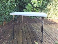 Folding table, white, seats 4, suit outdoor/camping/games/spare/exhibition