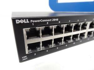 Dell PowerConnect 2848 - Managed Switch - (48) 10/100/1000 Gigabit Ports - (4) Combo SFP Ports - F496K