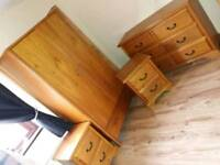 Double bed and matching furniture