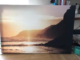 Canvas print of Caswell Bay Swansea