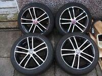 "Vauxhall Corsa D 17"" Inch Black Edition Alloy Wheels & Tyres. SRi/VXR/CDTI/Astra/Vectra/Zafira."