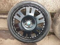 """ALLOY WHEELS FOR BMW X5 VW T5 TRANSPORTER RANGE ROVER 22"""" WITH TYRES"""