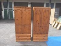Lovely 2 pine wardrobes in good condition