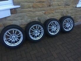 16 inch multi stood alloys and tyres