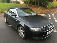 Audi a4 convertible s-line 2.5 tdi (automatic)! Cat-c quarter panel damage! drives mint! £1300!!!