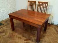 Lovely Hardwood Dining Table and 4 chairs