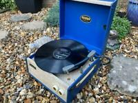 Unique Blue Dansette PopularVintage Record Player - Fully Working.
