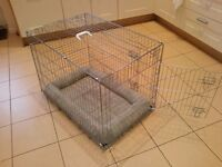 Large Dog Cage/Crate and Cushion for sale
