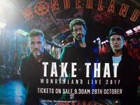 Take That Tickets Manchester 2017- 26 May. Excellent Lower Tier seating