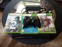 Xbox 360 120gb plus games