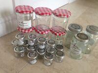 Bonne Maman jam jars with smaller glass jars