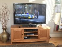 """Samsung LCD TV 46"""" and John Lewis Oak TV stand"""