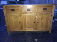 Natural Solid Oak Large Sideboard in EXCELLENT CONDITION
