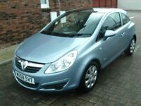 2008 58 VAUXHALL CORSA 1.4 CLUB 3DR ** FULL GLASS ROOF ** VERY TIDY CAR - MUST BE SEEN **