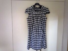 Chequerboard black and white dress size 12